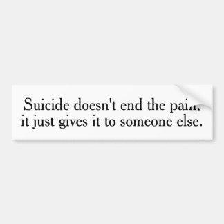 Adesivo Para Carro O suicídio não termina os autocolantes no vidro