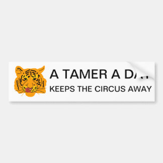 Adesivo Para Carro O tigre um mais doméstico um dia mantem o circo