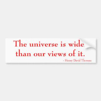 Adesivo Para Carro O universo é mais largo do que nossas opiniões