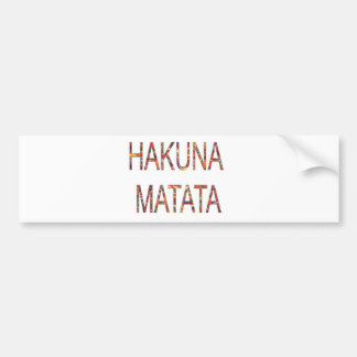 Adesivo Para Carro O vintage africano colore Hakuna Matata.