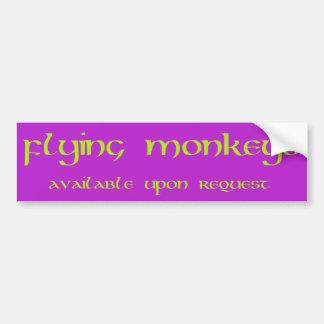 Adesivo Para Carro O vôo Monkeys o autocolante no vidro traseiro