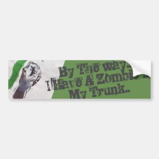 Adesivo Para Carro o zombi beware