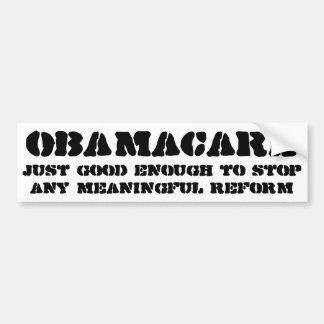 Adesivo Para Carro Obamacare apenas bom bastante parar alguns reforma