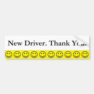 Adesivo Para Carro Obrigado novo do motorista do smiley face amigável