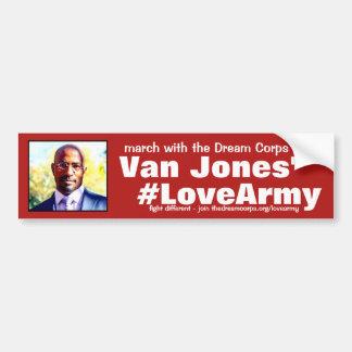 Adesivo Para Carro obrigados #LoveArmy para sonhar o corpo e o Van