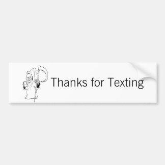 """Adesivo Para Carro """"Obrigados para do makin de Texting"""" - pessoas das"""