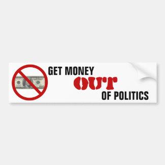 Adesivo Para Carro Obtenha o dinheiro fora da política