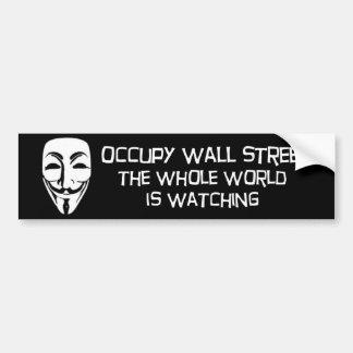Adesivo Para Carro ocupe Wall Street