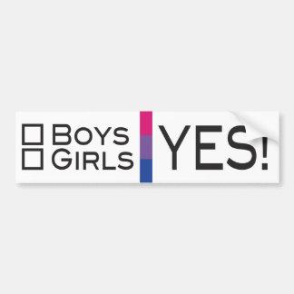 Adesivo Para Carro Orgulho sim bissexual das meninas LGBT dos meninos