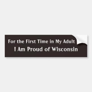 Adesivo Para Carro Orgulhoso da sátira política de Wisconsin