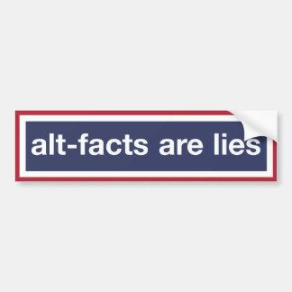 Adesivo Para Carro Os Alt-fatos são mentiras! Resista o trunfo!