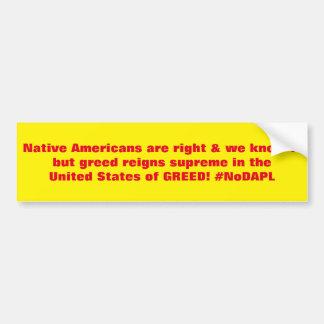 Adesivo Para Carro Os americanos nativos são #NoDAPL direito