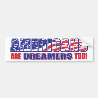 Adesivo Para Carro Os americanos são sonhadores demasiado!