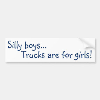 Adesivo Para Carro Os caminhões são para meninas! Autocolante no