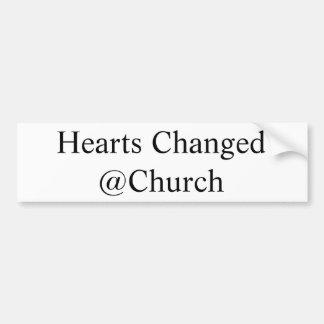 Adesivo Para Carro Os corações mudaram a etiqueta do @Church