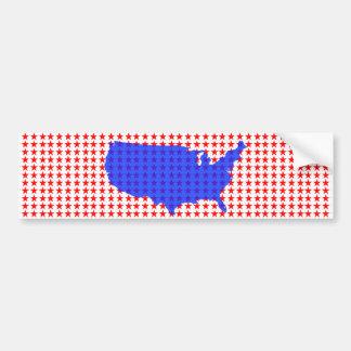 Adesivo Para Carro Os Estados Unidos da América brancos e azuis