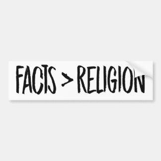 Adesivo Para Carro Os fatos são maiores do que a religião -- Colisão