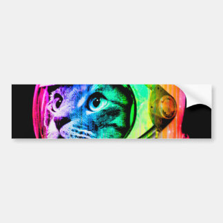 Adesivo Para Carro os gatos coloridos - astronauta do gato - espaçam