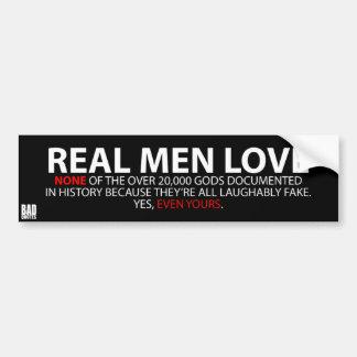 Adesivo Para Carro Os homens reais não amam… nenhuns - autocolante no
