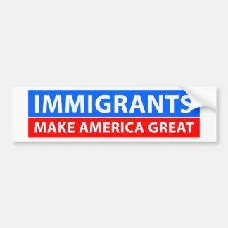 Adesivo Para Carro Os imigrantes fazem o excelente de América