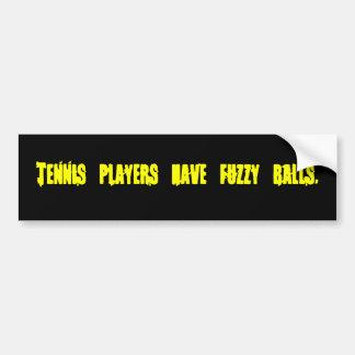 Adesivo Para Carro Os jogadores de ténis têm a etiqueta distorcido do