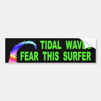 Adesivo Para Carro Os maremotos temem este surfista