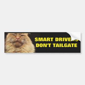 Adesivo Para Carro Os motoristas espertos não fazem bagageira. Gato