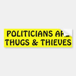 Adesivo Para Carro Os políticos são vândalos & ladrões
