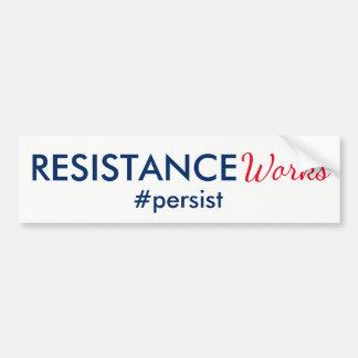 Adesivo Para Carro Os trabalhos da resistência persistem branco e
