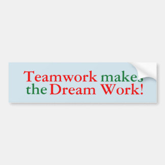 Adesivo Para Carro Os trabalhos em equipe fazem o trabalho ideal!
