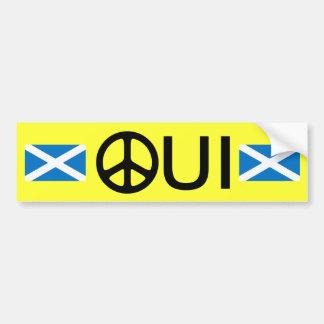 Adesivo Para Carro Oui nenhuma etiqueta escocesa da independência de