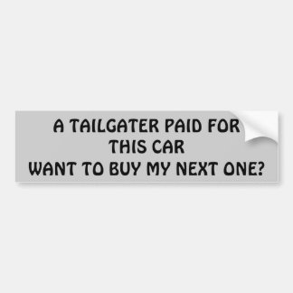 Adesivo Para Carro Pagamento de Tailgater para meu carro seguinte?