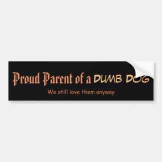 Adesivo Para Carro Pai orgulhoso de um cão