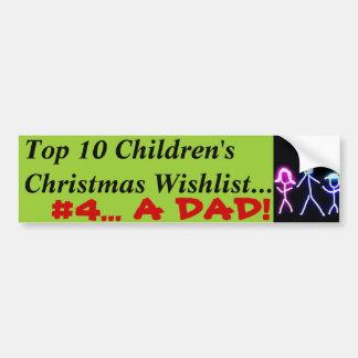 Adesivo Para Carro Pai para o Natal