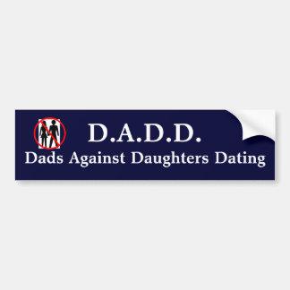 Adesivo Para Carro Pais contra datar das filhas