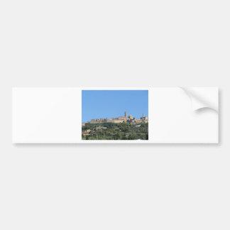 Adesivo Para Carro Panorama da vila de Volterra, província de Pisa