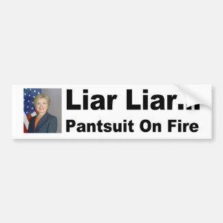 Adesivo Para Carro Pantsuit do mentiroso do mentiroso no autocolante