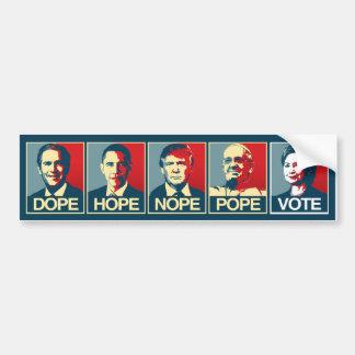 Adesivo Para Carro Papa Voto Hillary Clinton 2016 de Nope da