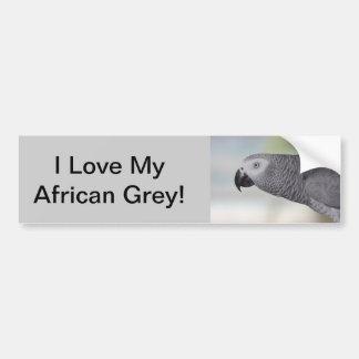 Adesivo Para Carro Papagaio lindo do cinza africano
