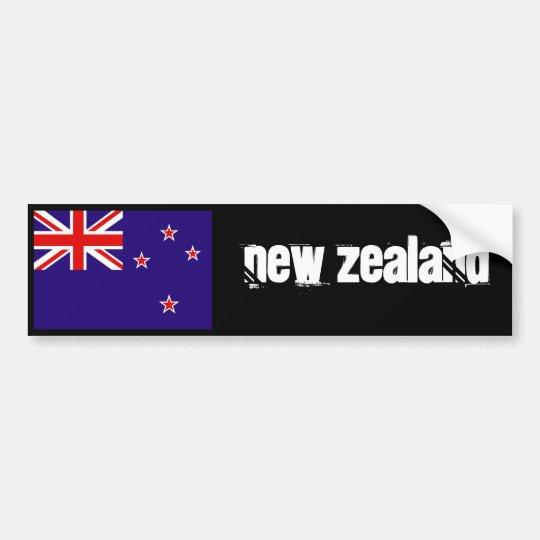 Adesivo Para Carro Pára-choque 2 da bandeira de Nova Zelândia