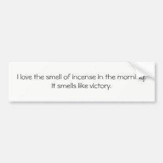 Adesivo Para Carro Pára-choque mais doente: Eu amo o cheiro do