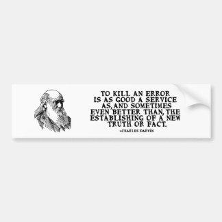 """Adesivo Para Carro """"Para matar citações de Darwin de um erro"""""""