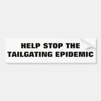 Adesivo Para Carro Parada da ajuda a epidemia da utilização não