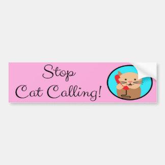 Adesivo Para Carro Pare a chamada do gato, o feminismo e os direitos