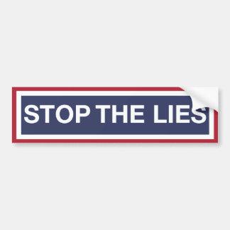 Adesivo Para Carro Pare as mentiras