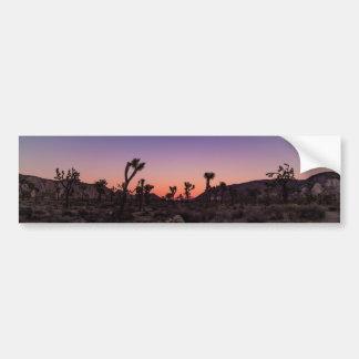 Adesivo Para Carro Parque nacional de árvore de Joshua do por do sol