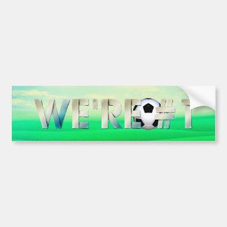 Adesivo Para Carro PARTE SUPERIOR nós somos o futebol #1