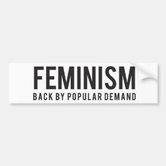 Adesivo Para Carro Parte traseira do feminismo pela procura popular