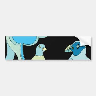 Adesivo Para Carro Pássaros lunáticos (alguma cor que você escolher!)