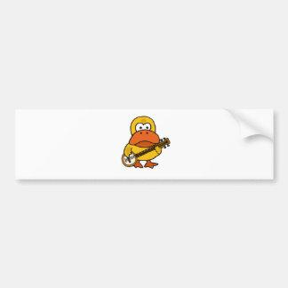 Adesivo Para Carro Pato engraçado parvo que joga desenhos animados do